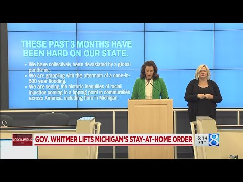Gov. Whitmer lifts Michigan's stay-at-home order
