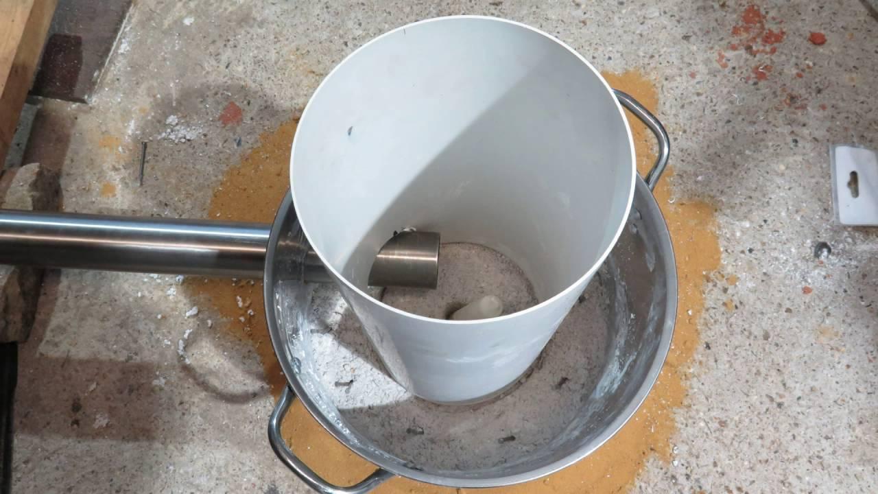 Homemade Backyard Aluminium and Brass Melting Foundry ...