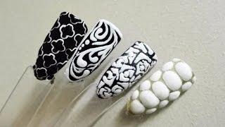 TUTORIAL: How to use paint gel Sugar Effect? 4 nail art ideas!   Indigo   Semilac   Paulie Nails