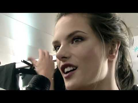 Alessandra Ambrosio's beautiful interview while getting dressed