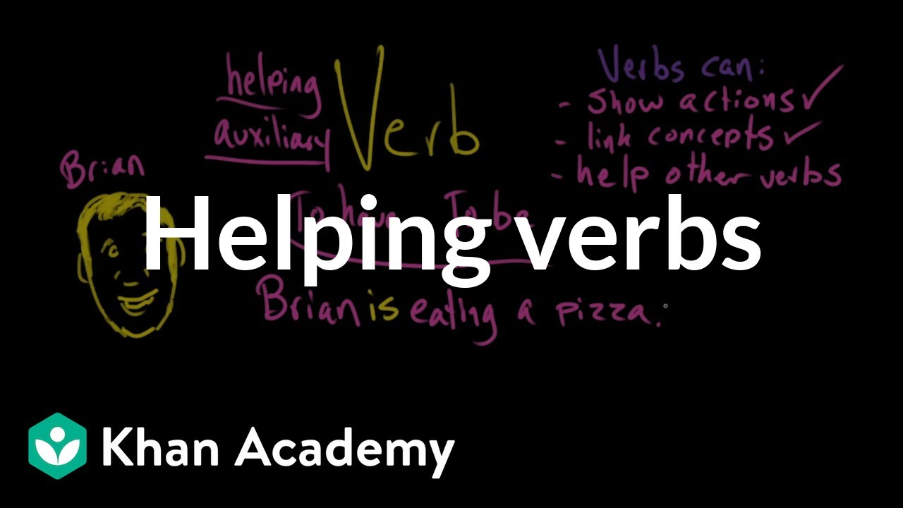 hight resolution of Helping verbs (video)   Khan Academy