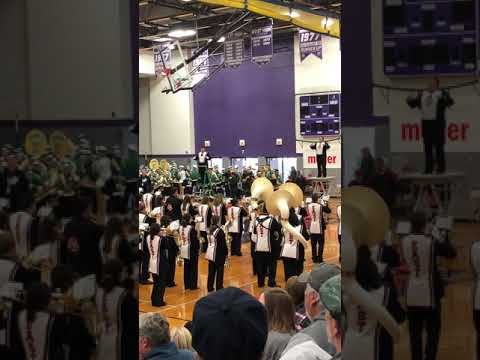 Green Bay East Marching Band performing Live and Let Die-Funky Town