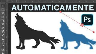 Imagen a Vector AUTOMÁTICAMENTE en Photoshop