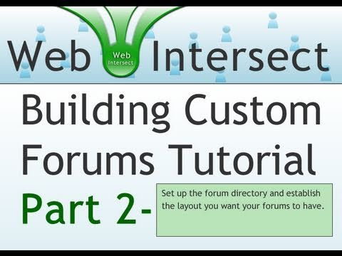 2. Web Intersect Forum Tutorial : Begin Layout and Create MySQL Table for Sections
