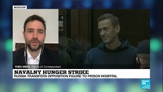 Navalny hunger-strike: Russia transfers opposition figure to prison hospital