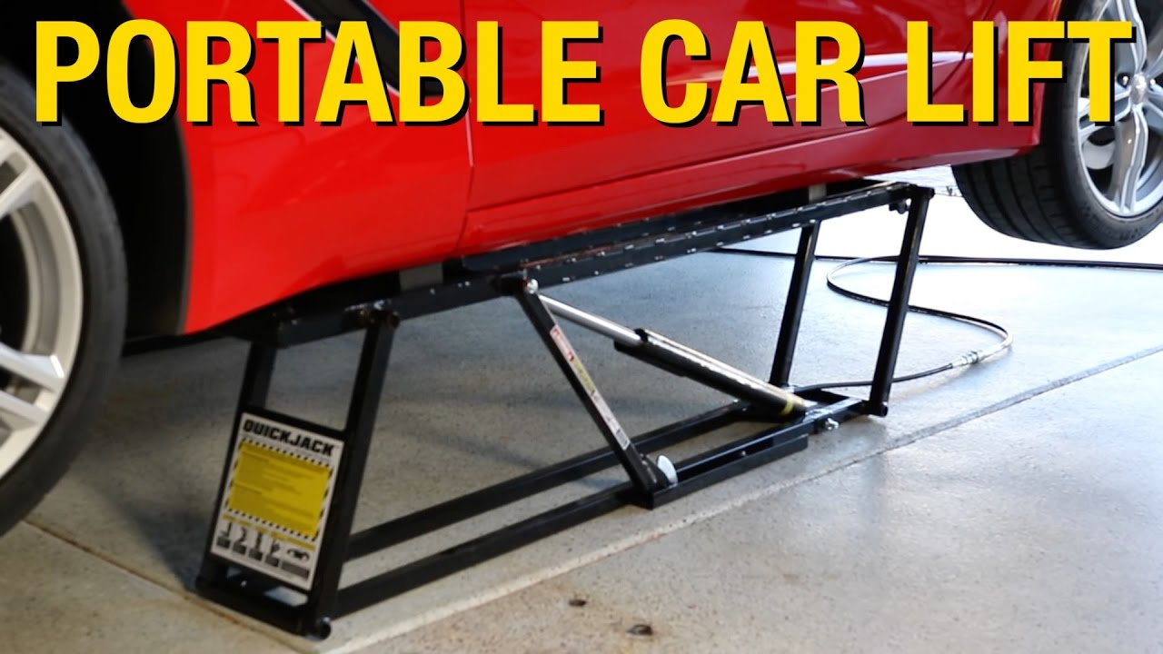 portable lift that can support up to 7000 pounds! quickjack car lift