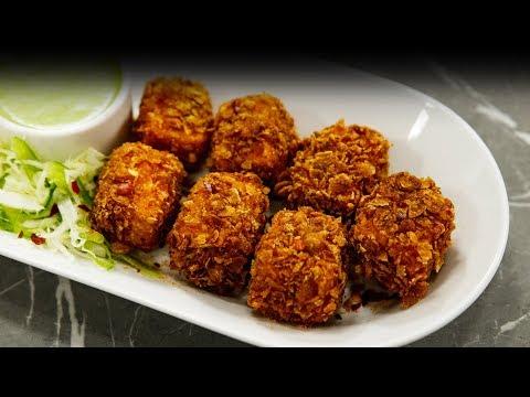 Kurkure Paneer Recipe - Crunchy Evening Snack - CookingShooking