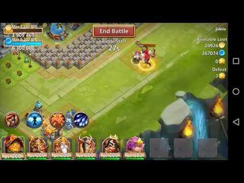 CastleClash Michael 5/5 Condemnation Vs Grimfiend 8/8 Stone Skin