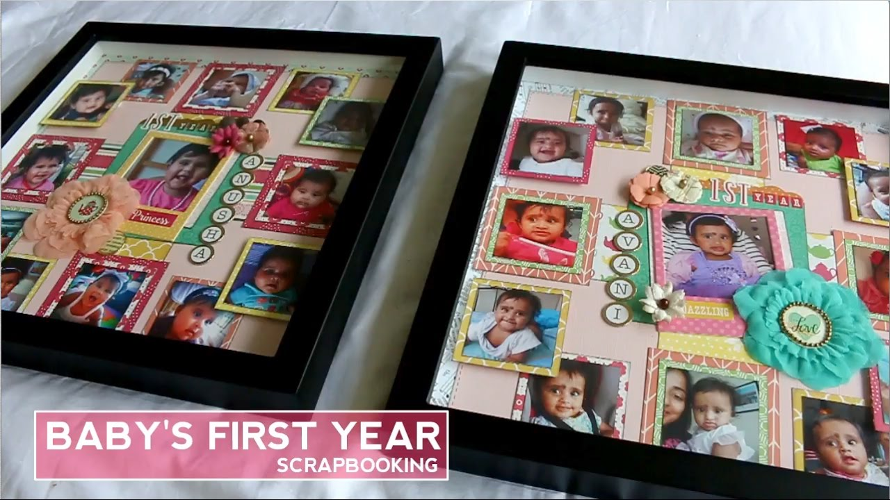 Diy Baby First Year Photo Frame Scrapbooking Youtube