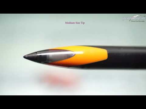 Uniball Air  Model: 13880 UBA-188EL-M micro Orange color body with black clip cap type gel pen