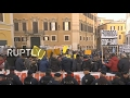 LIVE: Taxi drivers rally in Rome against 'Uber amendment'