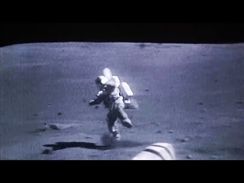 Astronauts falling on the Moon, NASA Apollo Mission Landed o