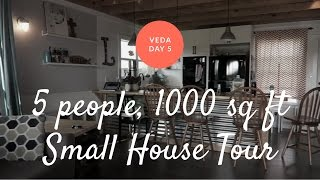 SMALL METAL BUILDING HOUSE TOUR - FAMILY OF 5 LIVING IN 1000 SQ FT || VEDA Day 5