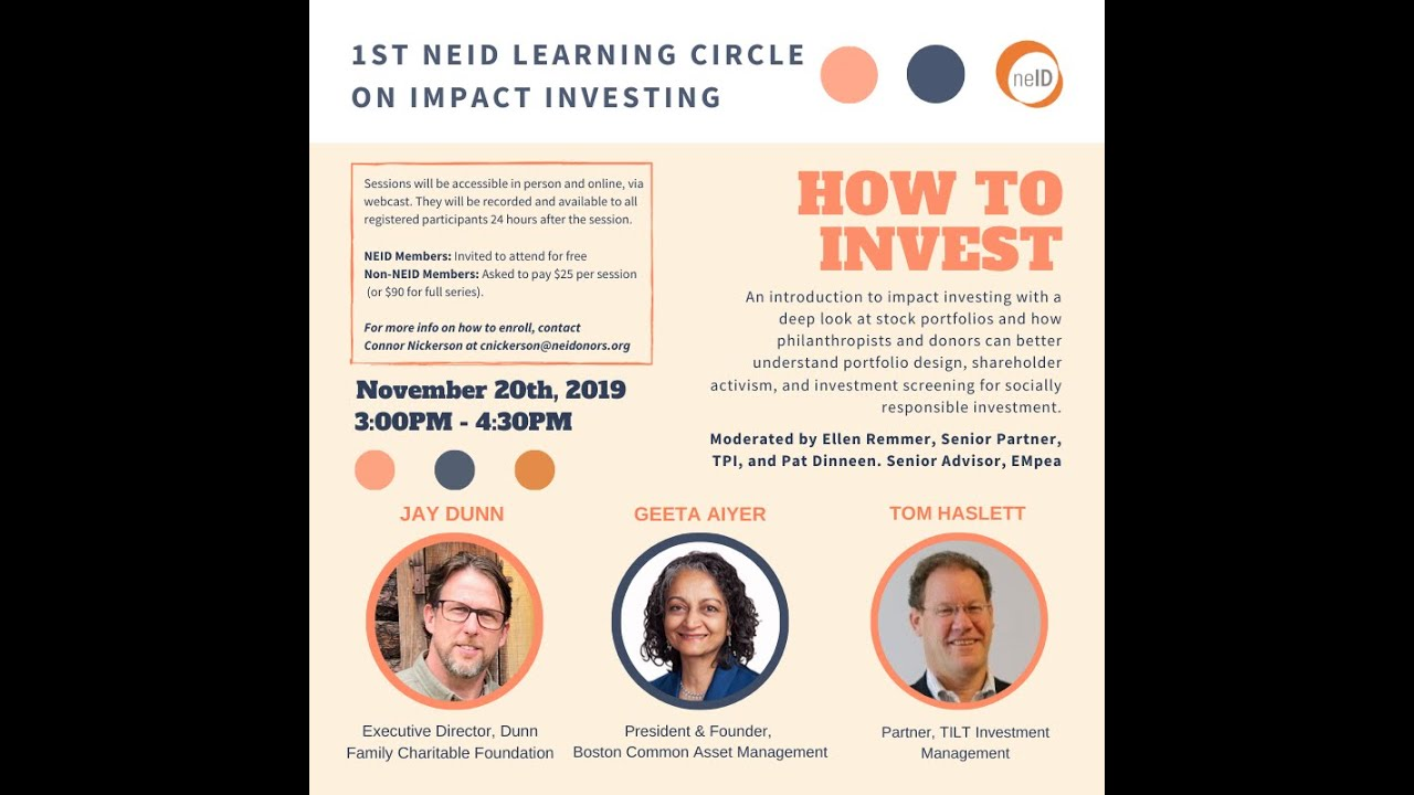 NEID Impact Investing Series: How to Invest