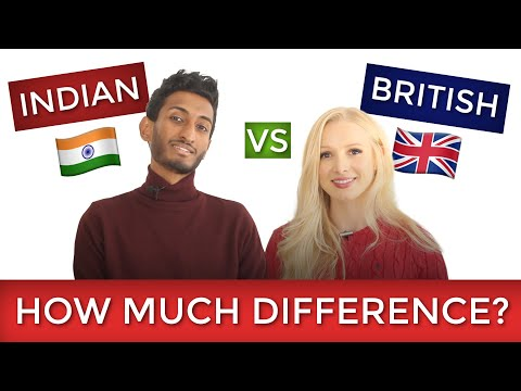 🇬🇧 BRITISH ENGLISH Vs INDIAN ENGLISH 🇮🇳 How Much Difference?
