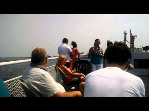 Ride on the MBTA Inner Harbor Ferry (Route F4) Charlestown to Long Wharf