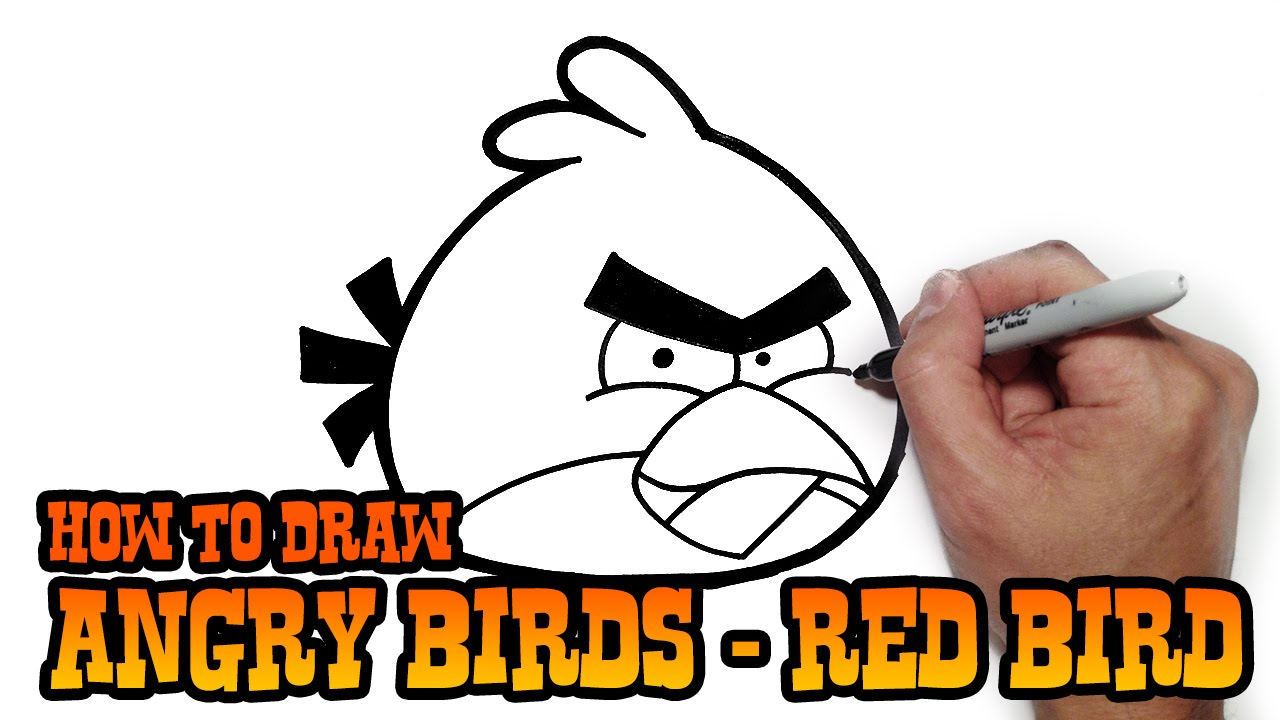 How To Draw Angry Birds Super Simple Video Lesson