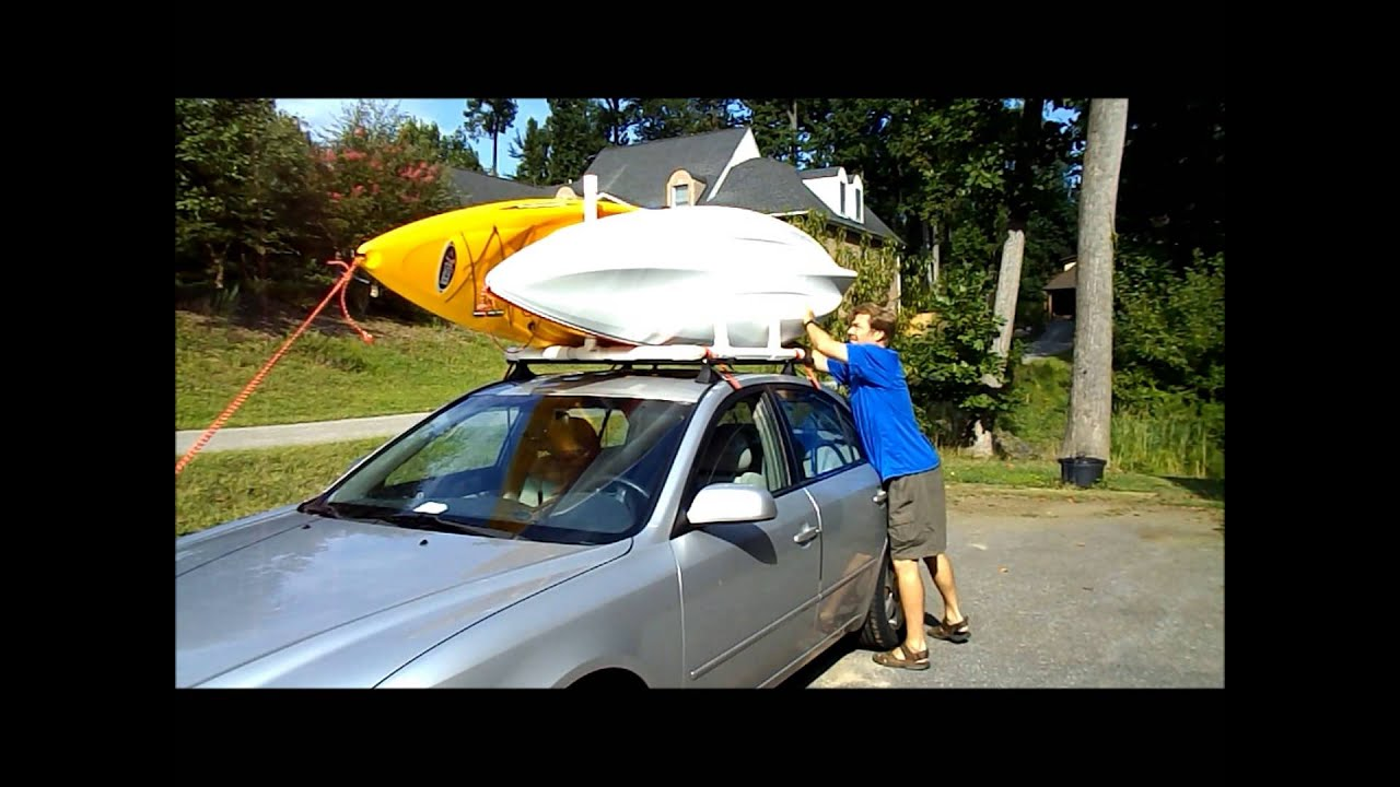 Pvc Dual Kayak Roof Rack For 50 Youtube