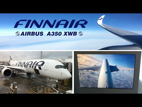 Finnair Airbus A350 XWB Business Class Helsinki to London Heathrow FULL FLIGHT