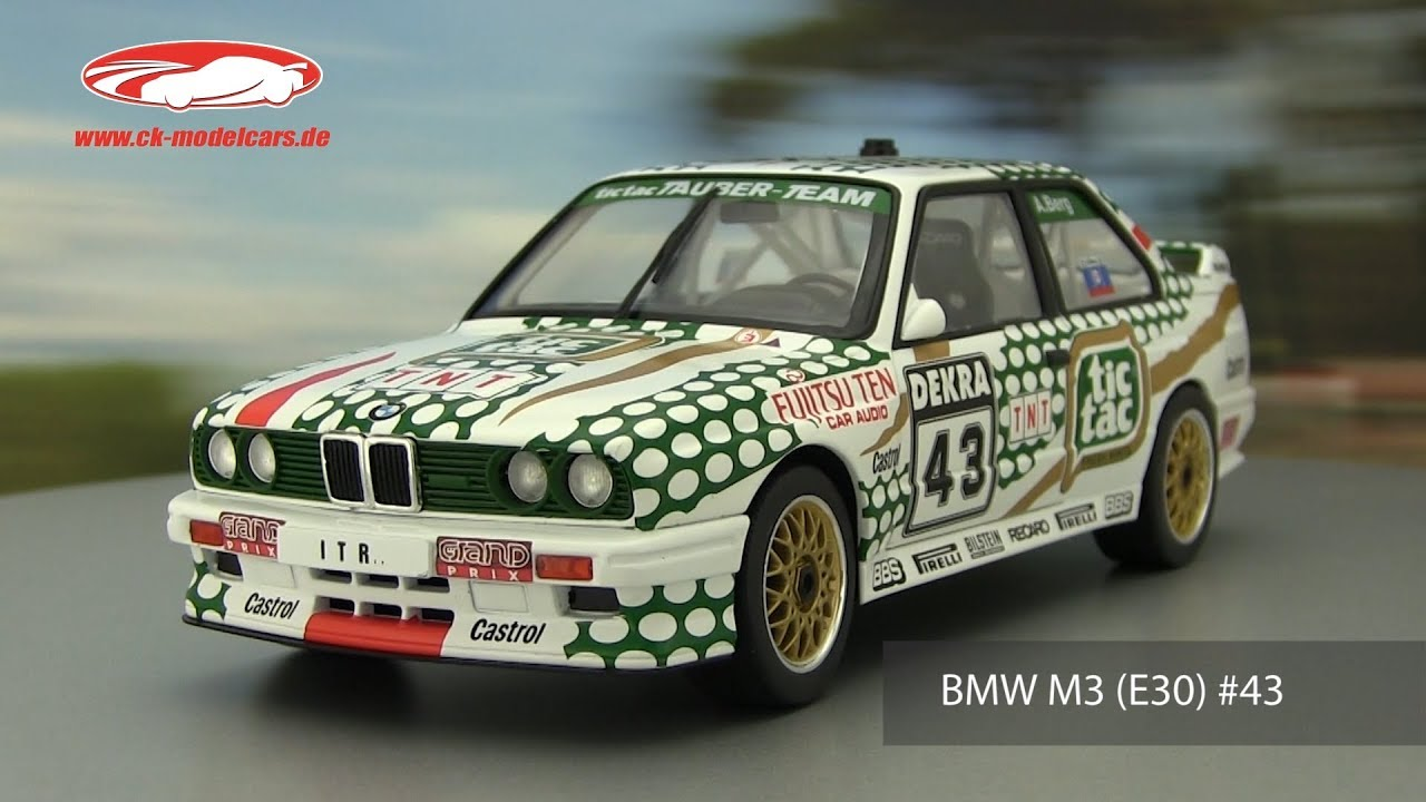 Bmw m3 e30 #43 DTM 1991 tic tac blanco maqueta de coche 1:18 solido