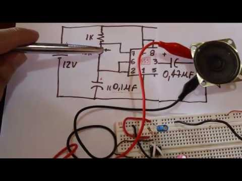 Circuito Oscilador 555 : Oscilador y semaforo by mau voch