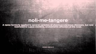 What does noli-me-tangere mean
