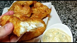 Easy Crispy Battered Fish Recipe  Lemon Herb Tartar Sauce Recipe