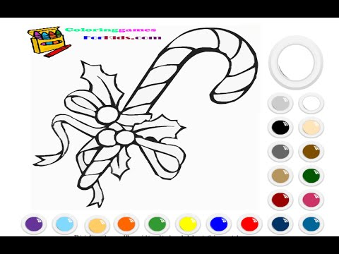 Candy Cane Coloring Pages For Kids - Candy Cane Coloring Pages - YouTube