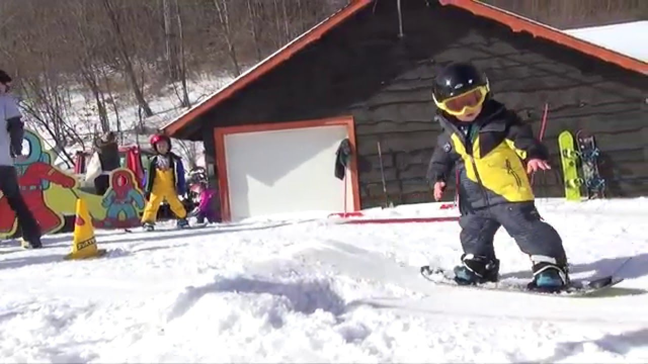 Year Old Kids Snowboarding Video