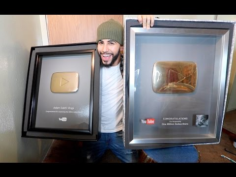 YOUTUBE SENT ME 2 GOLDEN PLAY BUTTONS!!!