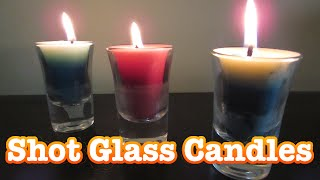 Make Your Own Shot glass candles