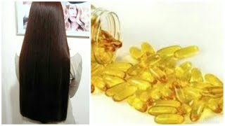 Best hair oil for hairfall and for glowing and shiny hairs(vitamin E capsule and coconut oil)