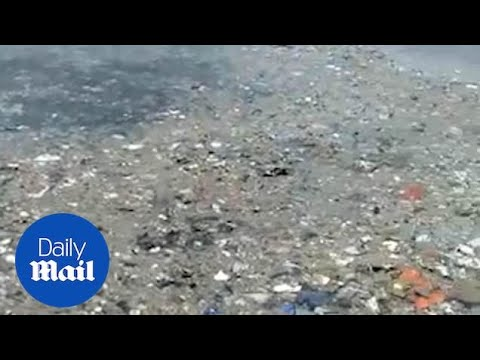 Passengers' Possessions Floating In The Sea After Lion Air Crash