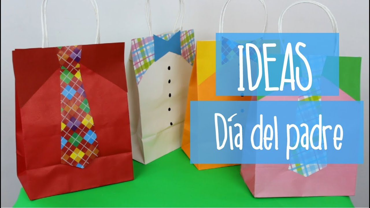 Dia del padre ideas para decorar bolsas de regalo de el for Regalos para el hogar decoracion