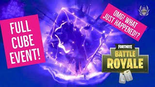 THE FORTNITE CUBE LIVE EVENT! ITS GONE!? UNLOCK NEW FREE Lil Kev Back Bling! Fortnite Battle Royale!