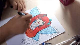 Kawaii Gothic Anime/Manga Girl Speed Drawing