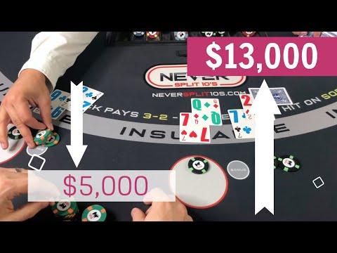 CRAZY Blackjack Comeback $18,000 Swing