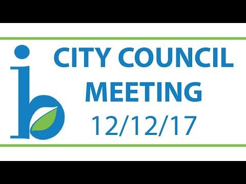 CITY COUNCIL: December 12th, 2017