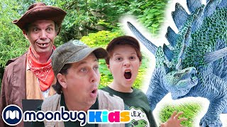 Dinosaur Park Rangers Find a Hidden Secret Door! | Jurassic Tv | Dinosaurs and Toys | T Rex Family
