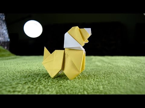 How to make an origami DOG    Paper Animals   DIY