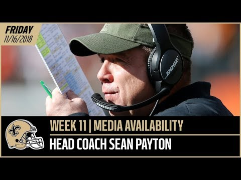 LIVE: Saints head coach Sean Payton Week 11 media availability presented by Verizon - Nov. 16, 2018