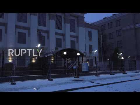 Ukraine: Vigil mourns Tu-154 crash victims at Russian embassy in Kiev