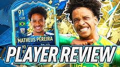 BEST CARD SO FAR! 😱 91 TOTSSF MATHEUS PEREIRA PLAYER REVIEW! - FIFA 20 Ultimate Team