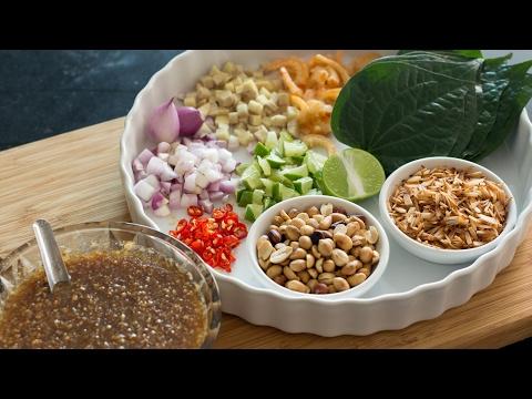 Miang Kham (Betel Leaf Wrap) - Hot Thai Kitchen! เมี่ยงคำ