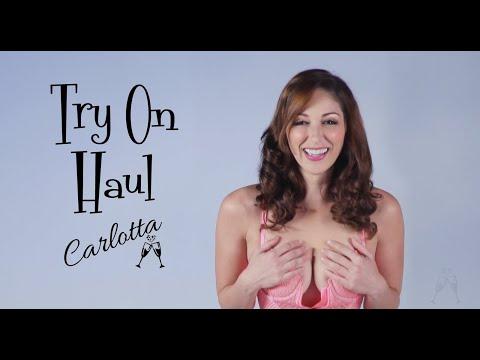 Carlotta's sheer see through lingerie try on haul!