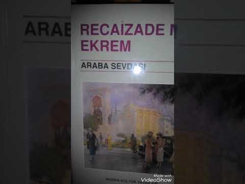 Roman Özetleri, İlk Realist Roman, Araba Sevdası,Recaizade Mahmut Ekrem