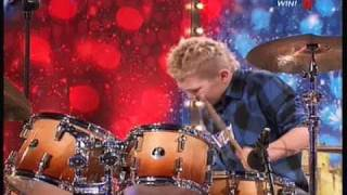Britain's Got Talent 2010 Auditions: Kieran Gaffney (Boy Drummer) 2nd Audition
