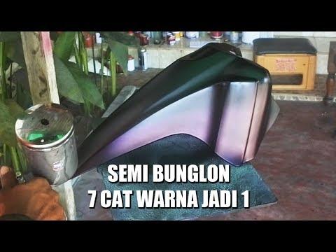 EKSPERIMENT CAT BODI SEMI BUNGLON - 7 WARNA DI CAMPUR JADI 1