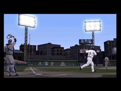 Crosley Field home run over scoreboard