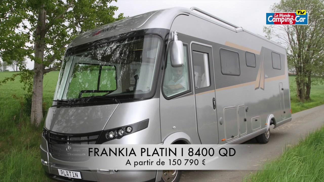 camping car frankia i840 qd platin le top du luxe et de l 39 quipement youtube. Black Bedroom Furniture Sets. Home Design Ideas